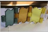 تیغه کرکره برقی پلی کربنات شفاف طرح اس